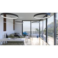 Светодиодный светильник в алюминиевом профиле Prima Tech Round Slim Premium D550
