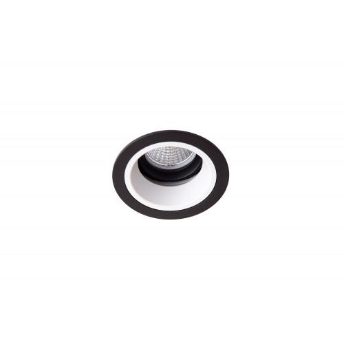 Точечный светодиодный светильник встроенный поворотный Prima Luce PL-0213-BK +WH/SL