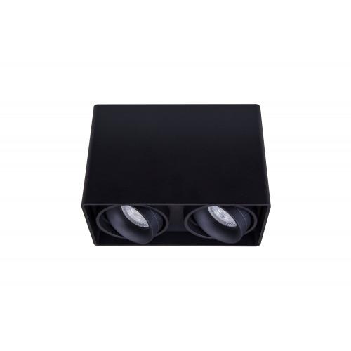 Точечный светодиодный светильник накладной поворотный Prima Luce PL-0406-2 BK