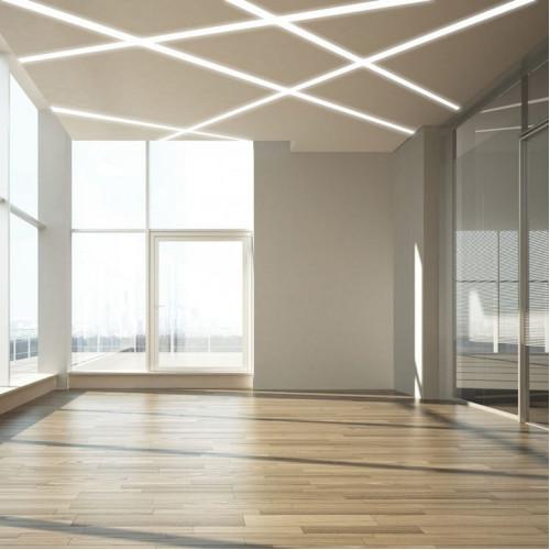 Линейный светодиодный светильник встраиваемый Prima Tech Line Recessed 40mm Premium 62W