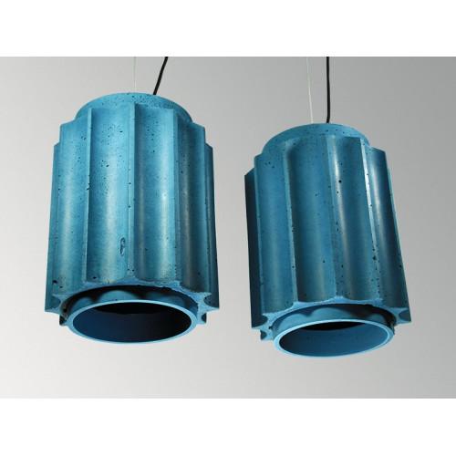 Подвесной бетонный светильник Грото Синий
