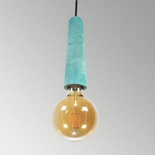 Подвесной бетонный светильник Патрон Оксид Меди