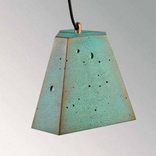 Подвесной бетонный светильник Трего Оксид Меди