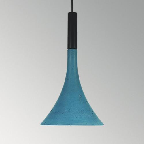 Подвесной бетонный светильник Лейка Синий