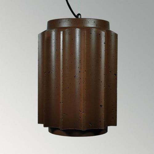 Подвесной бетонный светильник Грото Коричневый