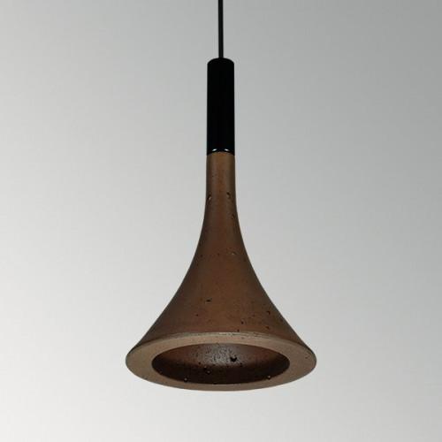 Подвесной бетонный светильник Лейка Коричневый