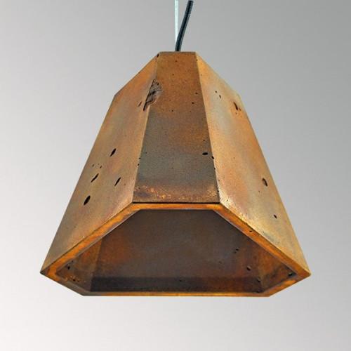 Подвесной бетонный светильник Трего Ржавчина
