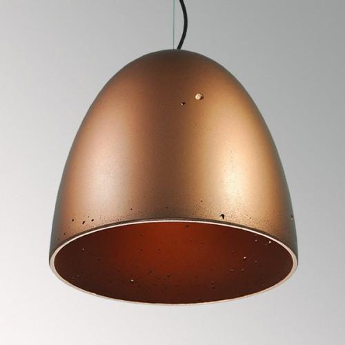 Подвесной бетонный светильник Люсси Медь