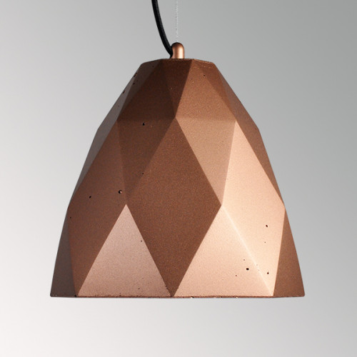 Подвесной бетонный светильник Бриолет Медь