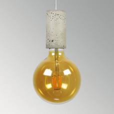 Подвесной бетонный светильник Цилиндр Серый