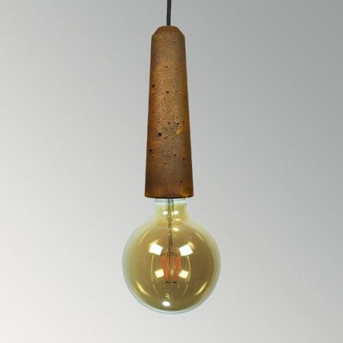 Подвесной бетонный светильник Патрон Ржавчина