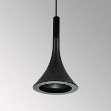 Подвесной бетонный светильник Лейка Черный