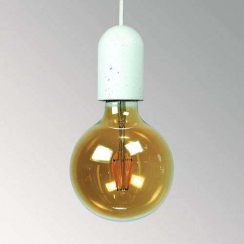 Подвесной бетонный светильник Бочонок Белый