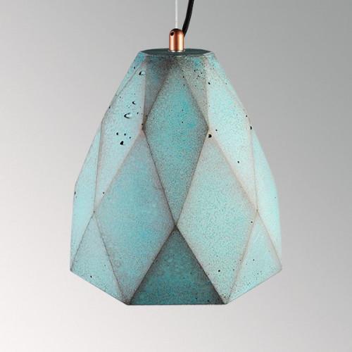 Подвесной бетонный светильник Бриолет Оксид Меди