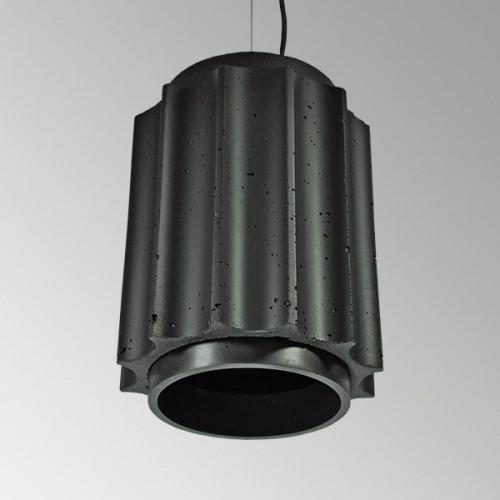 Подвесной бетонный светильник Грото Черный