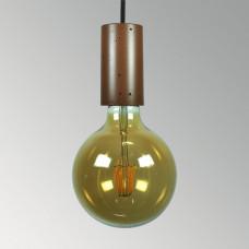 Подвесной бетонный светильник Цилиндр Коричневый
