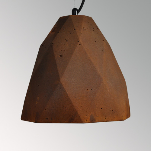 Подвесной бетонный светильник Бриолет Ржавчина