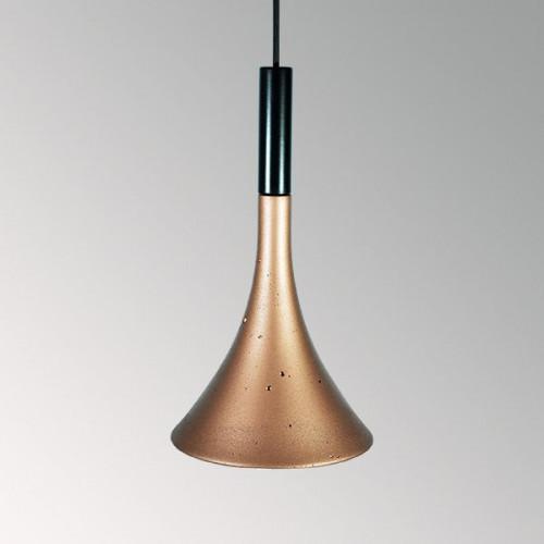 Подвесной бетонный светильник Лейка Медь