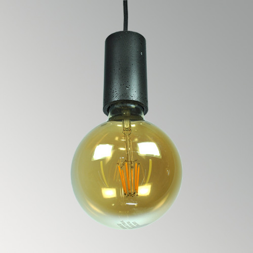 Подвесной бетонный светильник Цилиндр Черный