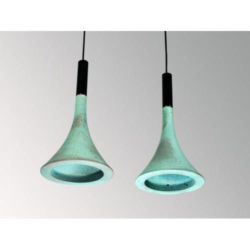 Подвесной бетонный светильник Лейка Оксид Меди