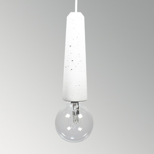 Подвесной бетонный светильник Патрон Белый