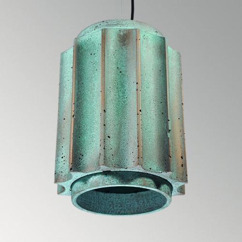 Подвесной бетонный светильник Грото Оксид Меди