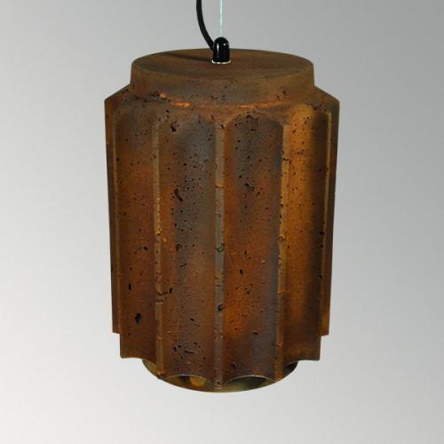 Подвесной бетонный светильник Грото Ржавчина