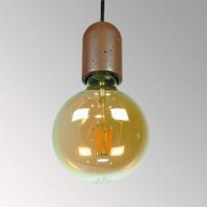 Подвесной бетонный светильник Бочонок Коричневый
