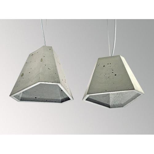 Подвесной бетонный светильник Трего Серый