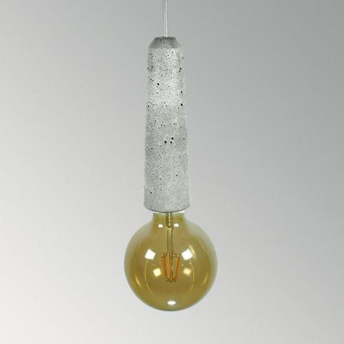 Подвесной бетонный светильник Патрон Серый