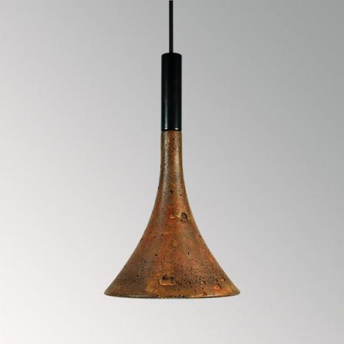 Подвесной бетонный светильник Лейка Ржавчина