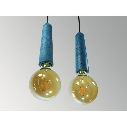 Подвесной бетонный светильник Патрон Синий