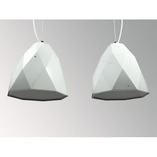 Подвесной бетонный светильник Бриолет Белый