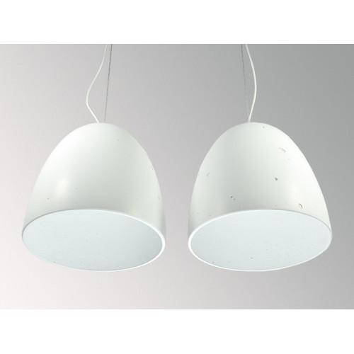 Подвесной бетонный светильник Люсси Белый