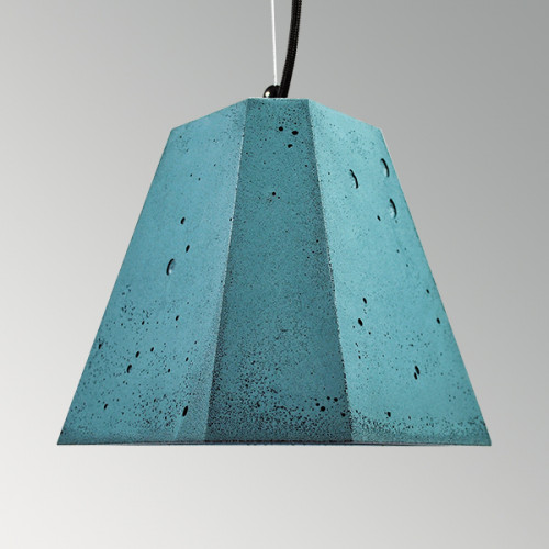 Подвесной бетонный светильник Трего Синий