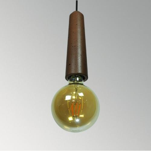 Подвесной бетонный светильник Патрон Коричневый