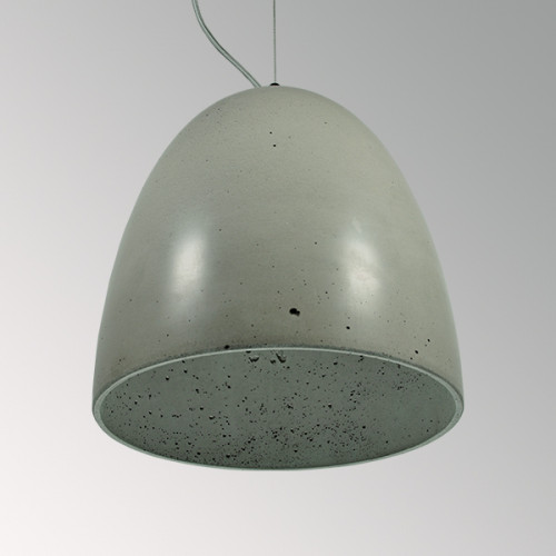 Подвесной бетонный светильник Люсси Серый