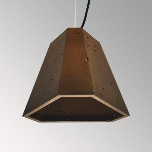 Подвесной бетонный светильник Трего Коричневый