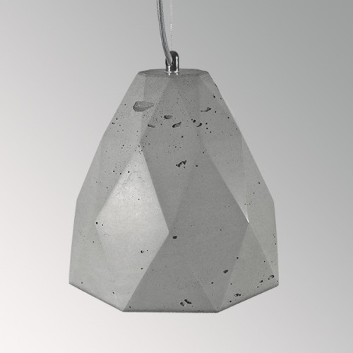Подвесной бетонный светильник Бриолет Серый