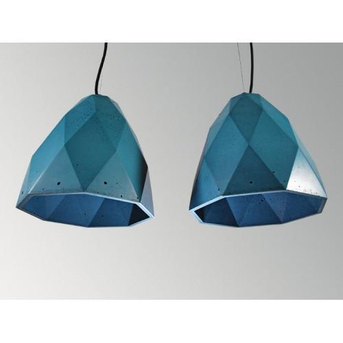 Подвесной бетонный светильник Бриолет Синий