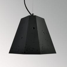 Подвесной бетонный светильник Трего Черный