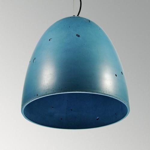 Подвесной бетонный светильник Люсси Синий