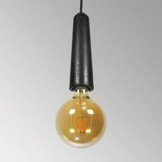 Подвесной бетонный светильник Патрон Черный