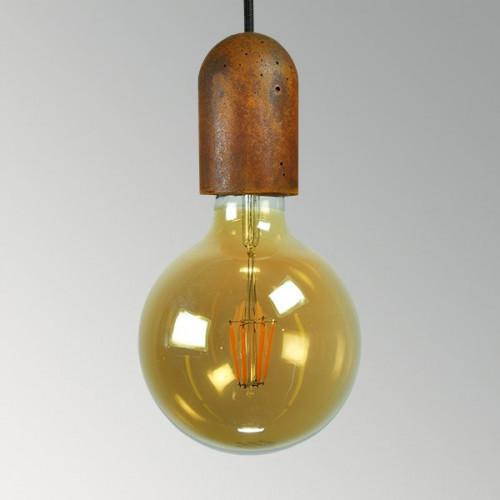 Подвесной бетонный светильник Бочонок Ржавчина