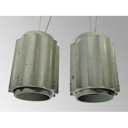 Подвесной бетонный светильник Грото Серый