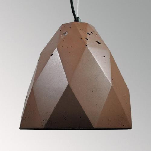 Подвесной бетонный светильник Бриолет Коричневый