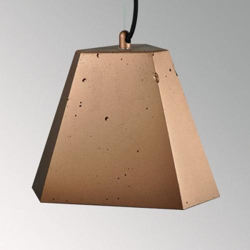 Подвесной бетонный светильник Трего Медь