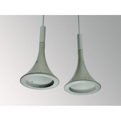 Подвесной бетонный светильник Лейка Серый