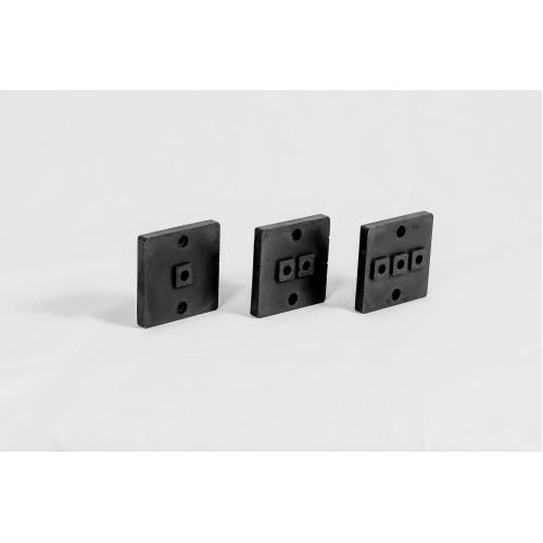 Накладка для наружной проводки черный (количество выводов 1)