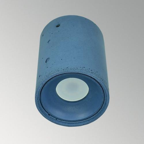 Накладной бетонный светильник Спот Синий